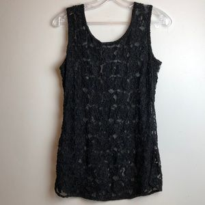 Beautiful sexy vintage sheerlace beaded tank top